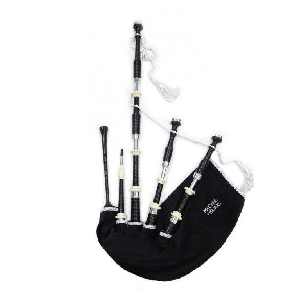 McCallum P2 Black Acetyl Bagpipes-WA-Music-Co