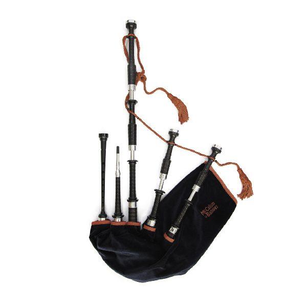McCallum P3 Black Acetyl Bagpipes-WA-Music-Co