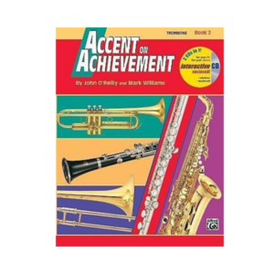 front cover of trombone book 2 accent on achievement
