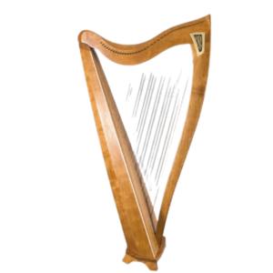 Dusty FH36S Harp - Figured Cherry
